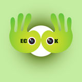 Eco o.k. concept als achtergrond Royalty-vrije Stock Fotografie