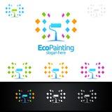 Eco obrazu loga Wektorowy projekt Zdjęcia Royalty Free