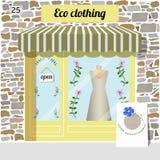 Eco odzieży sklep Organicznie ubrania sklep Zdjęcia Stock