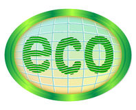 Eco odznaka. Obrazy Royalty Free