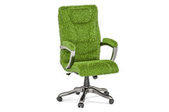 Eco office chair concept, 3D rendering. On white background Stock Photography