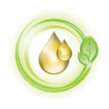 Eco oil drops Stock Image