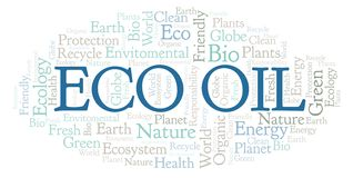 Eco Oil word cloud. Wordcloud made with text only royalty free illustration