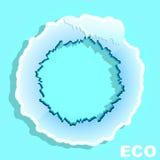 Eco okrąg sztandar Zima ilustracji