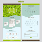 Eco one page website template design Stock Photo