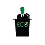 Eco orator color art  Royalty Free Stock Photos