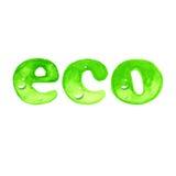 Eco ord i vattenfärgstil Fotografering för Bildbyråer