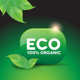 Eco organic button Stock Images