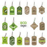 Eco organic cardboard labels big set. Stock Image