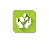 Eco Organic Environment Clean Care Icon. Flat Vector Illustration Stock Photos