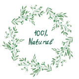 Eco organic floral frame for the label, banner Stock Photo