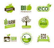 Eco Organic Icons. Collection of green eco - organic icons Stock Photography