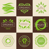 Eco Organic Labels and Tags Set Royalty Free Stock Images
