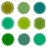 Eco, organic, natural vector blank green badges and labels set Royalty Free Stock Photography
