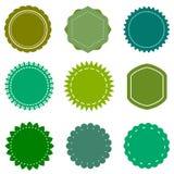 Eco, organic, natural vector blank green badges and labels set Royalty Free Stock Photography