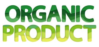 Eco organic product logo. royalty free stock images