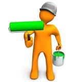Eco painter  Royalty Free Stock Photo