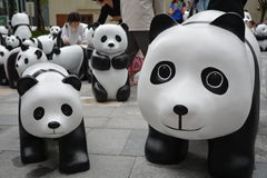 Eco-Panda dargestellt in Shanghai Lizenzfreie Stockbilder