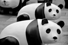 Eco-Panda dargestellt in Shanghai Lizenzfreies Stockfoto