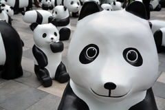Eco panda presented in shanghai Stock Photography