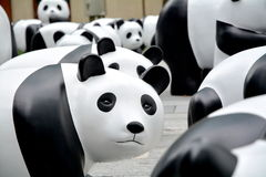 Eco panda presented in shanghai Royalty Free Stock Photography