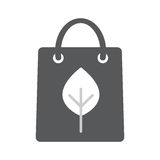 Eco paper bag icon. Flat illustration vector icon for web isolated on white background Stock Images