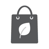 Eco paper bag icon. Flat illustration vector icon for web isolated on white background Stock Image