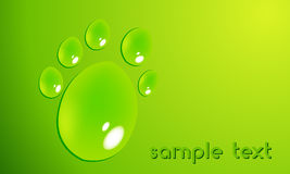 Eco pawprint with waterdrops Stock Photography