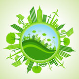 Eco pejzaż miejski Obraz Stock