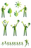 Eco people group, business green Royalty Free Stock Photos