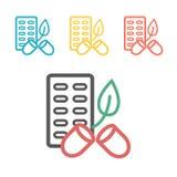 Eco pillersymbol Med sidor Vektortecken f?r reng?ringsdukdiagram vektor illustrationer