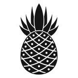 Eco pineapple icon, simple style stock illustration