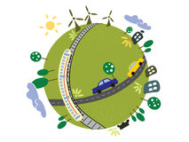 Eco planet vector illustration