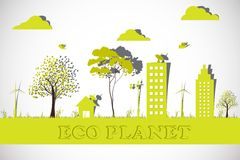 Eco Planet. Easy to edit vector illustration of vector illustration