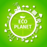 Eco planet background poster Stock Photos