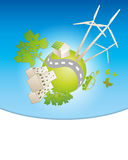 Eco planet background Stock Images