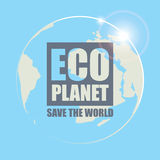 Eco planet Royalty Free Stock Photos