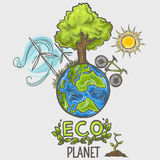Eco planet - concept design Stock Photography