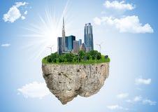 Eco planet, jord, jordklot som är miljö- Royaltyfria Bilder