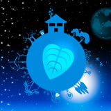 Eco Planets Represents Deep Space And Celestial Royalty Free Stock Photo