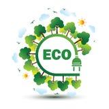 Eco plug vector Stock Image