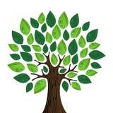 Eco pojęcia życzliwy drzewo Obraz Royalty Free