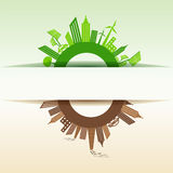 Eco and Polluted city around infinity symbol Stock Images