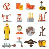 Eco pollution icon Royalty Free Stock Images
