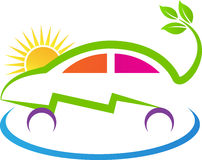 Eco power car. A vector drawing represents eco power car design royalty free illustration