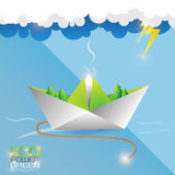 Eco Power Green Concept Vectot Royalty Free Stock Photo