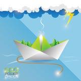 Eco Power Green Concept Vectot Royalty Free Stock Photo