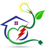 Eco power home. A vector drawing represents eco power home design vector illustration