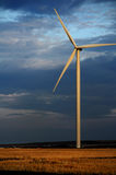 Eco power at night. Wind turbine Stock Photography