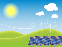 Eco power plant Royalty Free Stock Images